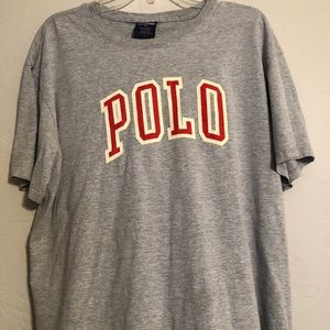 Vintage Polo Sport Spell Out T-Shirt Size L